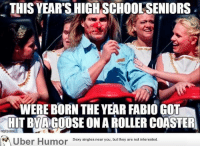 """<p><a href=""""http://omg-images.tumblr.com/post/152435004647/this-years-seniors-never-knew-about-this-tragedy"""" class=""""tumblr_blog"""">omg-images</a>:</p>  <blockquote><p>This Year's Seniors Never Knew About This Tragedy</p></blockquote>: THIS YEAR'S HIGH SCHOOLSENIORS  WERE BORN THE YEAR FABIO GOT  HIT BYACOOSE ON A ROLLER COASTER  Uber Humor Seoy singles near you, but they are not interested <p><a href=""""http://omg-images.tumblr.com/post/152435004647/this-years-seniors-never-knew-about-this-tragedy"""" class=""""tumblr_blog"""">omg-images</a>:</p>  <blockquote><p>This Year's Seniors Never Knew About This Tragedy</p></blockquote>"""