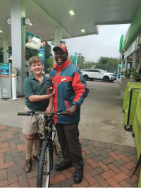 Work, Bicycle, and Who: This young man used his savings to buy his favourite petrol attendant a bicycle to get to and from work, who's chopping onions? 😢