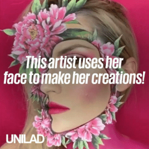 This makeup artist uses her face to make some seriously wild and wonderful creations! 😱👌: Thisaritusesher  face tomake her creations  UNILAD This makeup artist uses her face to make some seriously wild and wonderful creations! 😱👌