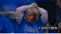 Lead, Thunder, and Now: THISIS  @CryingJordan  THUNDER LEAD SERIES 3-2  ONUS  99 OKC 99  4TH 2:47 24-  2  BlLAST OKC fans right now... 😭 https://t.co/tnL5rFC8rE