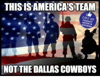 Dallas Cowboys, Facebook, and God: THISISAMERICA'S TEAM  ZTKE US  Facebook/  NATION IN  DISTRESS  NOTTHE DALLAS COWBOYS GOD BLESS OUR VETS  #BOYCOTTNFL!