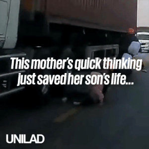After being knocked off a moped by a car, this mother's quick thinking prevented a fatal situation 😱👏: Thismothers quick thinking  just savedher sons life.  UNILAD After being knocked off a moped by a car, this mother's quick thinking prevented a fatal situation 😱👏