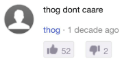 Tumblr, Blog, and Http: thog dont caare  thog 1 decade ago  52  2 toastoat:  dr–wizard: It's been 10 years and he still doesn't care '1 DECADE ago' carries so much weight