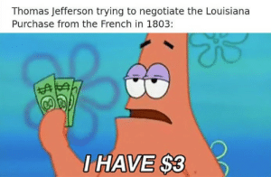 Rare colorized photo of Thomas Jefferson in 1803: Thomas Jefferson trying to negotiate the Louisiana  Purchase from the French in 1803:  HAVE S3 Rare colorized photo of Thomas Jefferson in 1803