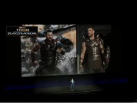 Disney, Memes, and Image: THOR  RAGNAROK Disney just showed a new image and footage from THOR: RAGNAROK at CinemaCon! Thor put on his winged helmet and battled Sakaar's gladiators!  (Andrew Gifford)