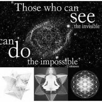 What you can't see, you can sense or feel. Use your other senses.: Those who cam  See  the invisible  do  the impossible What you can't see, you can sense or feel. Use your other senses.