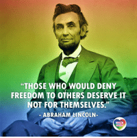 "Today's POTUS administration could learn a lot from Presidents of the past. Along with the Founding Fathers, these guys were often pretty open-minded. For instance they've considered democracy and freedom for everyone, not just for a small bunch of privileged white wealthy males. A scandalous notion at the time. Sadly, some of our politicians consider this notion scandalous even today. LGBT LGBTUN rainbownation rainbow_nation_us Lincoln POTUS LGBTPride LGBTSupport Homosexual GayPride Lesbian Gay Transgender Bisexual Pansexual GenderEquality Questioning Agender GenderQueer Intersex Asexual Androgyne GenderFluid LGBTQ LGBTCommunity LoveWins LoveIsLove: ""THOSE WHO WOULD DENY  FREEDOM TO OTHERS DESERVE IT  NOT FOR THEMSELVES.'""  ABRAHAM LINCOLN-  LGBT  UNITED  UNITED Today's POTUS administration could learn a lot from Presidents of the past. Along with the Founding Fathers, these guys were often pretty open-minded. For instance they've considered democracy and freedom for everyone, not just for a small bunch of privileged white wealthy males. A scandalous notion at the time. Sadly, some of our politicians consider this notion scandalous even today. LGBT LGBTUN rainbownation rainbow_nation_us Lincoln POTUS LGBTPride LGBTSupport Homosexual GayPride Lesbian Gay Transgender Bisexual Pansexual GenderEquality Questioning Agender GenderQueer Intersex Asexual Androgyne GenderFluid LGBTQ LGBTCommunity LoveWins LoveIsLove"