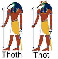 Thot, Edgy Egyptian, and Gold: Thoth Thot old but gold