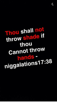 Shade, Thou, and Throw Shade: Thou shall not  throw shade if  thou  Cannot throw  hands  niggalations17:38