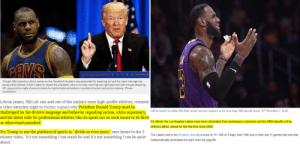 """All Star, Brooklyn Nets, and Cleveland Cavaliers: Though NBA superstar Lebron James on the Cleveland Cavaliers was applauded for speaking out and his video message was  being widely shared, it didn't seem to impact the president, who on Sunday morning was right back at it with a tweet attacking  NFL players who might choose to kneel during the National Anthem in protest of racism and police violence. (Photo:  CavsNation)  Lebron James, NBA all-star and one of the nation's most high-profile athletes, released  a video Saturday night to further explain why President Donald Trump must be  challenged for his divisive language and behavior regarding racism, white supremacy, oJsedbe NA fahs beeap s i vean inger N8A ployofs srek. (AP PhooMark.  and his latest calls for professional athletes who do speak out on such issues to be fired  or otherwised punished  It's official: the Los Angeles Lakers have been eliminated from postseason contention and the NBA playoffs will be  without LeBron James for the first time since 2005.  For Trump to use the platform of sports to """"divide us even more,"""" says James in the 2-  minute video, """"it's not something I can stand for and it's not something I can be quiet  about.  The Lakers lost to the Brooklyn Nets by a score of 111-106 on Friday, their 10th loss in their last 11 games and one that  mathematically eliminated the team from the playoffs Trump Curse: Victim - LeBron James (Round 2)"""