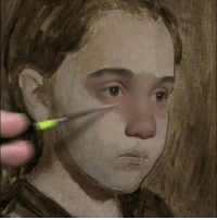 Beautiful, Memes, and Thank You: Thought I'd share a little painting I just started of my beautiful little daughter. Also, I want to thank you all for the comments and likes on my posts. I sincerely appreciate it. oilpainting oilpaint portaitpainting portrait videooftheday timelapse artist artoftheday instavideo scottwaddell