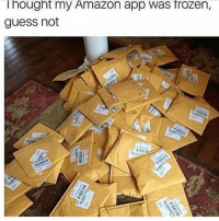 Amazon, Frozen, and Memes: Thought my Amazon app was frozen,  guess not Fair warning ⚠️😂 Comment 👇🏼👇🏾 (Follow @optimalgadgets for the TOP RATED gadgets of 2017) Cc: