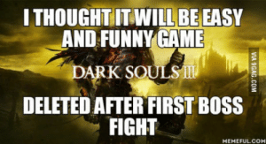 9gag didnt lie: THOUGHTITWILL BE EASY  AND FUNNY GAME  DELETED AFTER FIRST BOSS  FIGHT  MEMEFULCO 9gag didnt lie