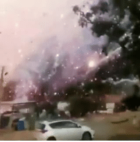 Memes, 🤖, and The Blaze: Thousands of fireworks exploded in rapid succession when a fire broke out at a warehouse in central Israel on Tuesday. 🎆Two people were killed and five injured in the blaze, according to police. The roof of the warehouse was ripped off and nearby buildings were damaged in Porat, an agricultural community near Netanya, a city on the Mediterranean north of TelAviv (Via @nbcnews) @worldstar WSHH