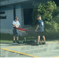 School, Elementary, and Kids: Three Idaho Elementary School Kids Were Caught Taking Down and Folding the Flag. One Kid Was Seen Laying on the Ground in Order to Prevent Old Glory From Touching It 🇺🇲