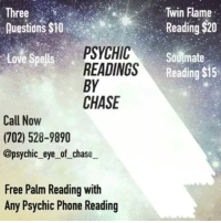 Three Questions $10% Twin Flame Reading $20 PSYCHIC READINGS