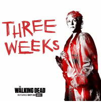 """Dank, The Walking Dead, and Walking Dead: THREE  WEEKS  THE  WALKING DEAD  RETURNS OCT 23  aMC """"I don't know what the hell's going on in the most wonderful way.""""   #TWD returns October 23 for Season 7."""