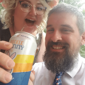 Three years ago we both swiped right, this week we got married. Happy day during a weird time!: Three years ago we both swiped right, this week we got married. Happy day during a weird time!