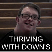 Memes, Down Syndrome, and 🤖: THRIVING  WITH DOWN'S 10 JAN: Jamie Berube was born with Down's syndrome, but thanks to his family's love and early care he's thrived, gaining some independence. His father has written about their relationship, and Jamie's growth to adulthood, in a new book. He says timely support can make all the difference. We caught up with them to hear more. Watch more: bbc.in-jamieberube Filmed by @colmomolloy DownsSyndrome DownSyndrome Disability BBCShorts BBCNews @BBCNews