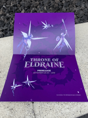 Purple, Vines, and Wizards: THRONE OF  ELDRAINE  PRERELEASE  SEPTEMBER 28-29 | 2019  llus. Alex Dos Diaz | TM&2019 Wizards of the Coast LLC 670Z5454001 Purple vines? Looks like another MtG x JoJo's reference to me bois