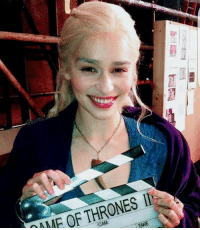 Memes, Stuff, and 🤖: THRONES Ils  OF TAKE  MAME Behind the scenes! . Follow @gameofthrones_n1! ✔ Hit the follow button for great GOT stuff! . emiliaclarke daenerys daenerystargaryen gameofthronesfamily gameofthroneshbo got gameofthrones