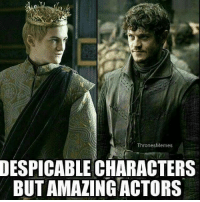Hbo, Memes, and Asoiaf: Thrones Memes  DESPICABLE CHARACTERS  BUTAMALING ACTORS gameofthrones joffrey jackgleeson ramsay iwanrheon tv asoiaf hbo
