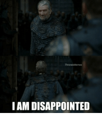 Game of Thrones, Game, and Friend: ThronesMemes  I AM DISAPPOINTE When your friend still hasn't watched Game of Thrones https://t.co/0V2pH6WFPu