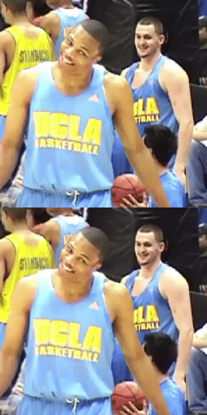Throwback to Russell Westbrook and Kevin Love practicing for UCLA🔥 https://t.co/TL23OEOa8Q: Throwback to Russell Westbrook and Kevin Love practicing for UCLA🔥 https://t.co/TL23OEOa8Q