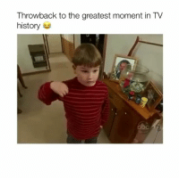 Abc, Instagram, and Memes: Throwback to the greatest moment in TV  history  abc Follow @Crelube for more videos! - Instagram is really annoying