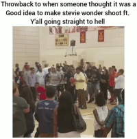 Funny, Stevie Wonder, and Good: Throwback to when someone thought it was a  Good idea to make stevie wonder shoot ft.  Yall going straight to hell  ER Yall are wrong for this 💀😂😂 HoodClips