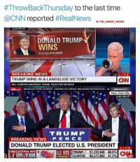 America, Bill Clinton, and Butthurt:  #ThrowBackThursday to the last time  @CNN reported #RealNews  10: THE LIBERAL WEENIE  3:33 PM ET  NN PROJECTION  DONALD TRUMP  WINS  ELECTED PRESIDENT  BREAKING NEWS  TRUMP WINS IN A LANDSLIDE VICTORY  BILL CLINTON ENDORSES TRUMP. FILES FOR DIVORCE  CH.com MASSIVE BUTTHURT ON REDOITI SANDERS STLL DERANT AND ASKING FOR DONATIONS IHE ERNBURNETT  CNN  New York City  2:49 AM ET  TRU M P  BREAKING NEWS P E N C E  DONALD TRUMP ELECTED U.S. PRESIDENT  LIVE  LIVE  CNELECTORAL MAP  288 215  U.S. VOTER  TRUMP 57,10,646 48.0%  TRUMP 57,120,646 48.0%) N  PRESIDENT D  - -CLINTON 56,177,663 47.2%  GNI And ever since they have been very fake news! 🔴www.TooSavageForDemocrats.com🔴 JOINT INSTAGRAM: @rightwingsavages Partners: 🇺🇸 @The_Typical_Liberal 🇺🇸 @theunapologeticpatriot 🇺🇸 @DylansDailyShow 🇺🇸 @keepamerica.usa 🇺🇸@Raised_Right_ 🇺🇸@conservative.female 🇺🇸 @too_savage_for_liberals 🇺🇸 @Conservative.American DonaldTrump Trump 2A MakeAmericaGreatAgain Conservative Republican Liberal Democrat Ccw247 MAGA Politics LiberalLogic Savage TooSavageForDemocrats Instagram Merica America PresidentTrump Funny True SecondAmendment