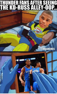 All Star, Nba, and Thunder: THUNDER FANSAFTERSEEING  THE KD-RUSSALLEY-002..  @NBAMEMES Memories...  Durant-Westbrook All-Star alley-oop: bit.ly/DurantRussAllStarOop