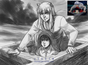 Target, Tumblr, and Work: thunderpot:I started rewatching inuyasha [I always work with some series/movie on the side!] So here's a lil something from it!