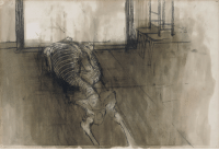 Tumblr, Blog, and Http: thunderstruck9:David Hockney (British, b. 1937), Skeleton #1, 1959. Charcoal and gouache on paper, 15 x 22 in.
