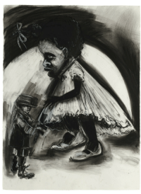 Tumblr, American, and Blog: thunderstruck9:Kara Walker (American, b. 1969), Toy Soldier, 2010. Charcoal, pastel and graphite on paper, 76.2 x 56.5 cm.