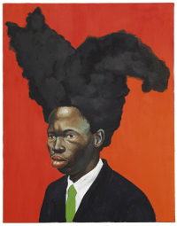 thunderstruck9:Kehinde Wiley (American, b. 1977), Conspicuous Fraud Series (Portrait Study), 2001. Oil on canvas, 71.1 x 55.6 cm.: thunderstruck9:Kehinde Wiley (American, b. 1977), Conspicuous Fraud Series (Portrait Study), 2001. Oil on canvas, 71.1 x 55.6 cm.