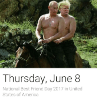 "America, Best Friend, and Best: Thursday, June 8  National Best Friend Day 2017 in United  States of America <p>Happy National Best Friend Day! Tag your best friend: <a class=""tumblelog"" href=""https://tmblr.co/m9fGbRdm8GWv1M31CKYZOzQ"">@eden-winchester</a></p>"
