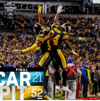 Football, Lexus, and Memes: THURSDAY  NIGHT  FOOTBALL  FOX  prime video  FINAL  21 FINAL: @steelers win their fifth straight game! #HereWeGo #CARvsPIT  (by @Lexus) https://t.co/FTnC2jmGMz