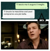 Cioè, asp [ Da @assassins_screen ] noncifermeremoperch assassins_screen: Ti lascio ma ti auguro il meglio.  12:36  Ti brucio la macchina così puoi  comprarne una più bella.  13:07  ASSASSINS Cioè, asp [ Da @assassins_screen ] noncifermeremoperch assassins_screen