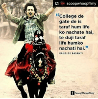 Repost @scoopwhoopfilmy 11YearsOfRangDeBasanti aamirkhan rangdebasanti rdb maddy rdbdialogues wow 26january RepublicDay iconicdialogues dialogues Bollywood ScoopWhoop SWFilmy Movies Instascoop Instalike Instagood Instadaily Instapic: ti scoopwhoopfilmy  College de  gate de is  taraf hum life  ko nachate hai,  te duji taraf  life humko  53  nachati hai  RANG DE BASANTI  ScoopWhoopFilmy Repost @scoopwhoopfilmy 11YearsOfRangDeBasanti aamirkhan rangdebasanti rdb maddy rdbdialogues wow 26january RepublicDay iconicdialogues dialogues Bollywood ScoopWhoop SWFilmy Movies Instascoop Instalike Instagood Instadaily Instapic