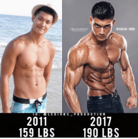 Clothes, Facebook, and Gym: TIBO NORMAN  PHOTOGRAPHY  NICOLAS I0NG  2011  159 LBS  2017  190 LBS 🔥😳CRAZY TRANSFORMATION! Founder 👉: @king_khieu. 2011 to 2017. 159 lbs = 72 kg. 190 lbs = 86 kg. Men's physique champion Europe. Thoughts? 🤔 What do you guys think? COMMENT BELOW! Athlete: @nicolasiong. Photography 📸: @tibonorman. TAG SOMEONE who needs to lift! _________________ Looking for unique gym clothes? Use our 10% discount code: LEGIONS10🔑 on Ape Athletics 🦍 fitness apparel! The link is in our 👆 bio! _________________ Principal 🔥 account: @fitness_legions. Facebook ✅ page: Legions Production. @legions_production🏆🏆🏆.