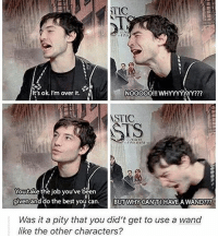 Hype, Memes, and Bing: TIC  It's ok. I'm over it.  NOOOOOOO!!! WHYYYYYYY?  ASTIC  You take the job you've been  given and do the best you can  BUT WHY CAN HAVE AWAND???  Was it a pity that you did't get to use a wand  like the other characters? + Why I love Ezra Miller part 2 😂😂 it's Christmas Eve for me in an hour and I'm pretty hyped but I'm also really tired from binge watching Luke Cage all day lmao