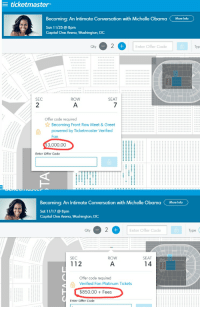 Ticketmaster becoming an intimate conversation with michelle obama michelle obama obama and capital ticketmaster becoming an intimate conversation with michelle m4hsunfo