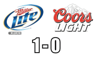 "Beer, Mlb, and Game: (tie) ""Coo  1-0  @MLBMEME Brewers take Game 1 of the Beer Series!"