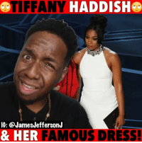 Funny, Memes, and Oscars: TIFFANY HADDISH  IG: @JamesJeffersonJ  & HER FAMOUS DRESS! People had a lot to say about Tiffany Haddish dress at the Oscars but…😂😂😂 WitChoDumbAss ——————————————————————————— FOLLOW (@JamesJeffersonJ ) FOR MORE FUNNY VIDEOS! JamesAndreJeffersonJr ——————————————————————————— tiffanyhaddish girlstrip alexandermcqueensneakers alexandermcqueen mayarudolph tiffanyhaddishdress oscars theoscars ryanseacrest kobebryant academyawards @tiffanyhaddish