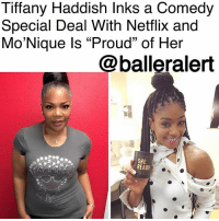 "Family, Future, and Memes: Tiffany Haddish Inks a Comedy  Special Deal With Netflix and  Mo'Nique ls ""Proud"" of Her  @balleralert  SHE  READY Tiffany Haddish Inks a Comedy Special Deal With Netflix and Mo'Nique Is ""Proud"" of Her - Blogged by: @RaquelHarrisTV ⠀⠀⠀⠀⠀⠀⠀⠀⠀ ⠀⠀⠀⠀⠀⠀⠀⠀⠀ Comedian, actress, and model TiffanyHaddish is getting a Netflix comedy special and everyone - including comedic icon MoNique is happy about it. ⠀⠀⠀⠀⠀⠀⠀⠀⠀ ⠀⠀⠀⠀⠀⠀⠀⠀⠀ Many discussions have taken place about if Haddish had sealed a Netflix deal, amid Mo'Nique's recent issues with the streaming service for giving her a ""low offer"" compared to other legends like DaveChappelle and ChrisRock. In said discussions, Mo'Nique went to bat for Black, female comics, specifically for Haddish. ⠀⠀⠀⠀⠀⠀⠀⠀⠀ ⠀⠀⠀⠀⠀⠀⠀⠀⠀ ""If I accepted $500,000, what does Tiffany Haddish have coming? If I accept that, what does the black female comedian have coming? Because what they'll say is, 'Mo'Nique accepted this and she's got that.' So what do they have coming?"" said Mo'Nique. Whether you agree or disagree with her, you can't negate the fact that those who come before others pave a clearer path for the success of future artists. ⠀⠀⠀⠀⠀⠀⠀⠀⠀ ⠀⠀⠀⠀⠀⠀⠀⠀⠀ However, Haddish already signed off on the Netflix deal before her name was ever mentioned. In a tweet, Haddish wrote: ""I already got a deal and I signed it way before she [Mo'Nique] said a thing,"" Haddish responded. ""It's not legend money but [it's] enough to take care of my family for a min."" And like real sistas should, Mo'Nique congratulated her. ⠀⠀⠀⠀⠀⠀⠀⠀⠀ ⠀⠀⠀⠀⠀⠀⠀⠀⠀ ""You've done nothing wrong, my sister. You KEEP SHINING,"" she wrote on Twitter. ""I am proud of you. You keep doing what [you're] doing. You are making it better for the next ones."""