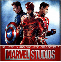 """Memes, 🤖, and Mcu: TIG  BDC, MARVEL UNITE  NO NETFLIX AND CINEMATIC CROSSOVER  MARTEL STUDOS """" AnthonyMackie (Actor of TheFalcon) Says That The Netflix Marvel Characters would not fit in The Cinematic Universe that KevinFeige has built."""" 😬 I hope this isn't true and we'll get to see TheDefenders Appear in The MCU Films, but I doubt we'll see them in Avengers InfinityWar. I would just love a Scene of The Defenders Meeting The Avengers. Or even DareDevil, LukeCage, IronFist and JessicaJones meeting TomHolland' SpiderMan since they have a Great History in the comics. But Comment Below how you Think The Netflix Marvel Characters could Fit into The MarvelCinematicUniverse ! 💥"""