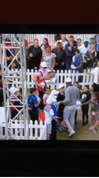 Foh, Saw, and Tiger Woods: Tiger Woods saw those autograph seekers and said FOH!!