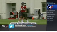 We 👀 you, rookie!  @deshaunwatson getting some reps at @houstontexans camp! #NFLTrainingCamp https://t.co/K9tLK8PimM: TIGHT ENDS  PROJECTED DEPTH CHART  C.J. FIEDOROWICZ  RYAN GRIFFIN  STEPHEN ANDERSON  RASHAUN ALLEN  EVAN BAYLIS  ZACH CONQUE  Voices of: Marshall Faulk & Rhett Lewis  NSIDE  TRAINING  CAMPLIVEANDTONS  Old Skool 2 Heart @itsmrlomax  Lehh go @deshaunwatson !Take the wheel bruh We 👀 you, rookie!  @deshaunwatson getting some reps at @houstontexans camp! #NFLTrainingCamp https://t.co/K9tLK8PimM