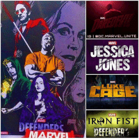 Memes, 🤖, and Mcu: TIGI BOC MARVEL UNITE  JESSICA  EUNES  IRAN FIST  DEFENDERS  DEFENDED  AMAN SAME  ETFLIX New Leaked Poster for ' TheDefenders' Marvel - Netflix Series Featuring MattMurdock, JessicaJones, LukeCage and DannyRand ! 😱 Comment Below your Favorite MCU Show…is it DareDevil, Jessica Jones, Luke Cage and IronFist ? Mines gotta be DareDevil Season 1, Hopefully Defenders will be my New Favorite ! MarvelCinematicUniverse 💥
